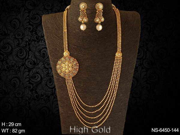 More layer ball chain long antique necklace set