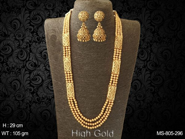 High gold beads traditional mala