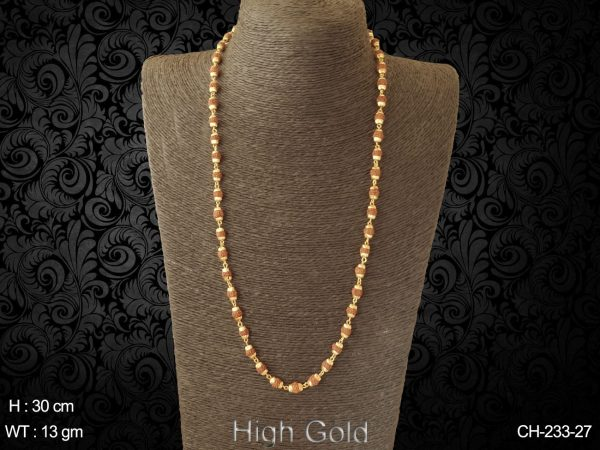 Rudraksh tradional delicate antique mala chain