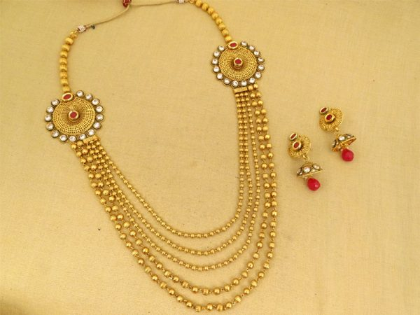 five strades long necklace set