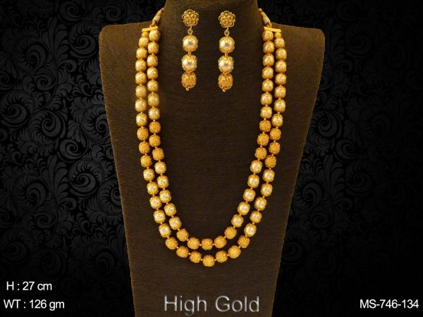 Pearl golden Double line Traditional Mala