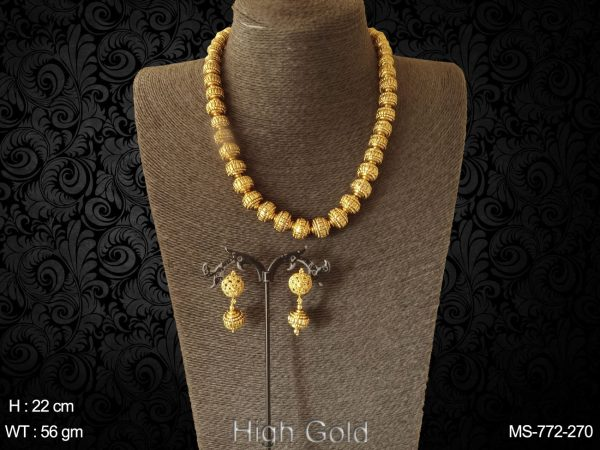 High golden beads traditional Mala