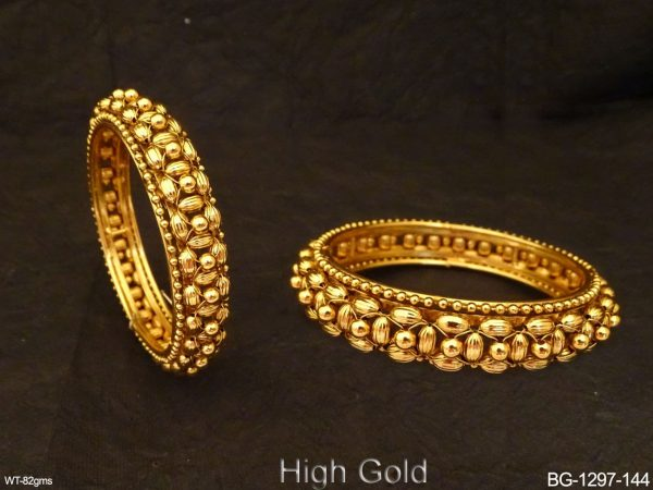 Beaded Style Antique Bangles