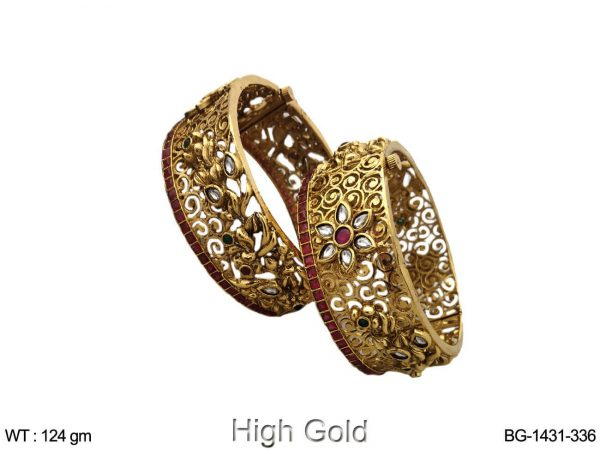 Rani princess flower net design antique bangle