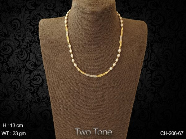 Two tone ball antique chain