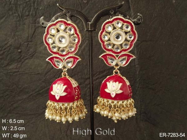 Flowery Leaf Jhumki Earrings
