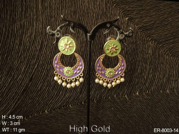 Chand design meena kari small antique earring