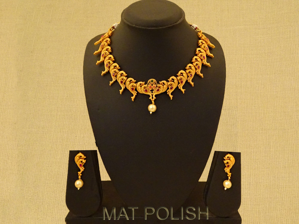 Multi Peacock Style Antique Necklace