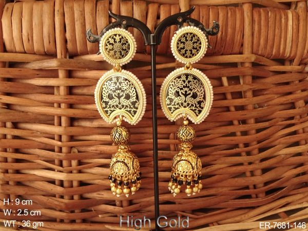 Couple peacock thewa earring