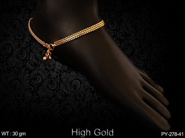 High gold chain type design antique payal