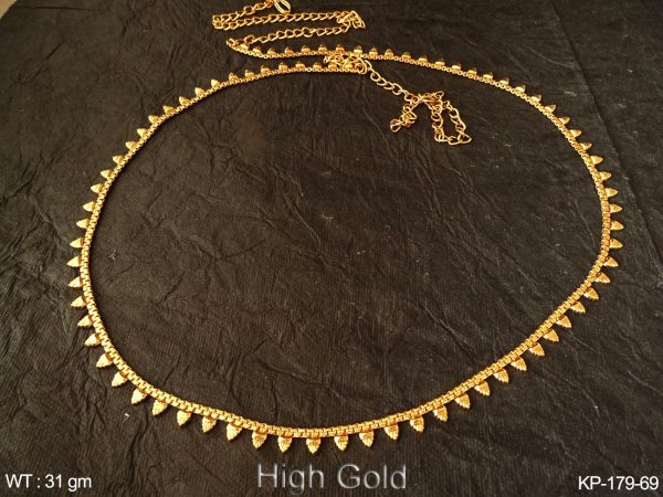 Fancy gold finish belly chain antique kamarpatta