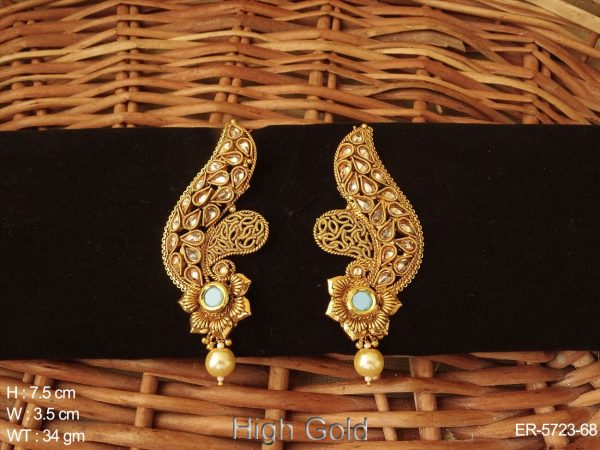 Flower Kanful Type Antique Earrings