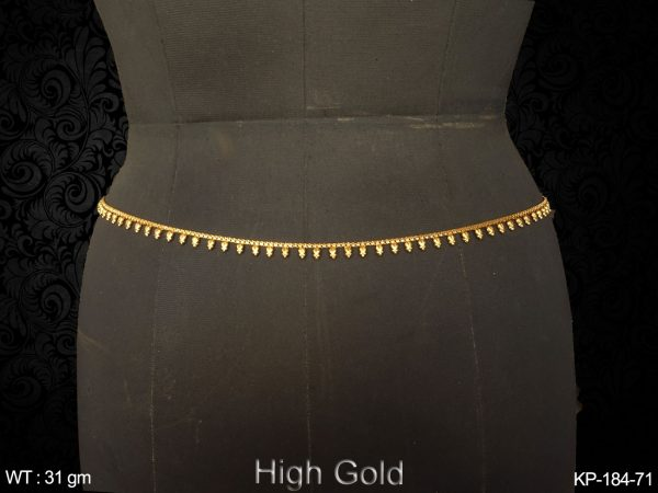 Fancy delicate one line high gold antique kamar patta