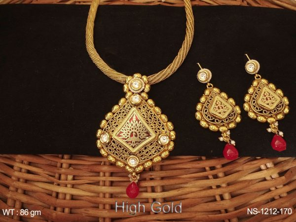 cokor bridal antique necklaces set