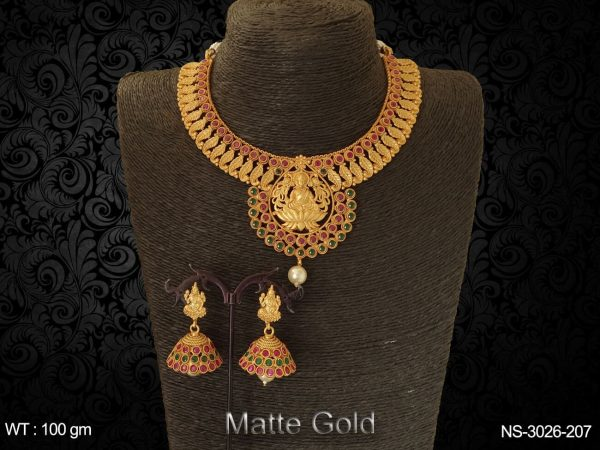 Kamala Laxmi Ji Temple Necklace Set