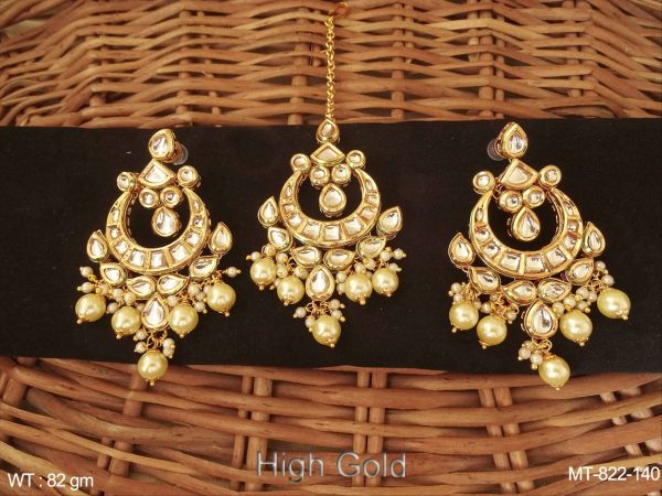 Chand Bali Kundan Earring With Manng Tikka