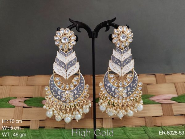 Meena colouring antique Chand Bali earring'