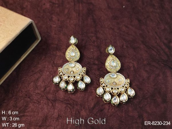 Gold Polished Fusion Earrings