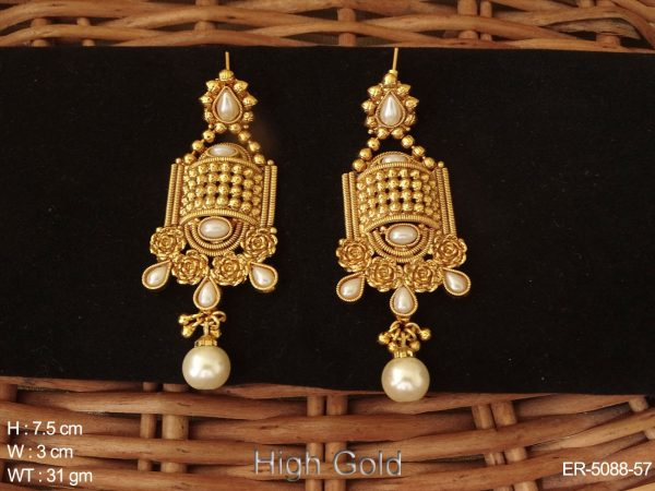Chokor Style Traditional Antique Earrings