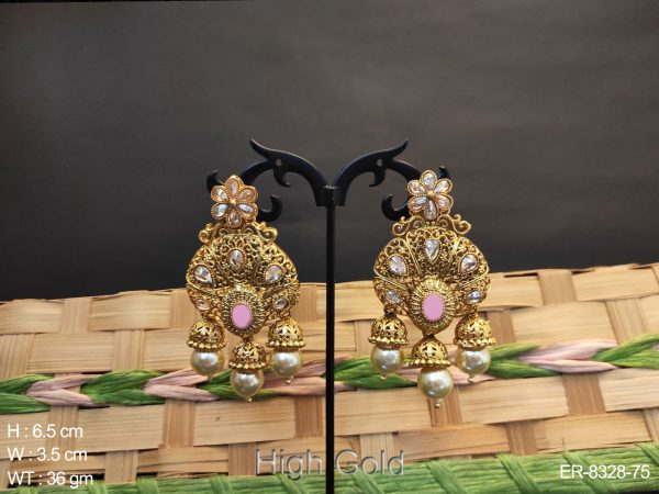 Full Heavy Style High Gold Antique Earring