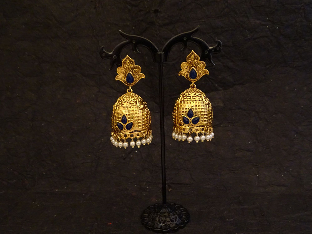 Dome Shape Traditional Antique Earrings