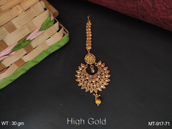Antique Full Stones Designer Party wear Maang Tikka