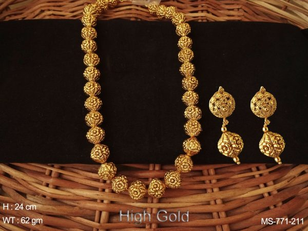 Beads golden design traditional mala