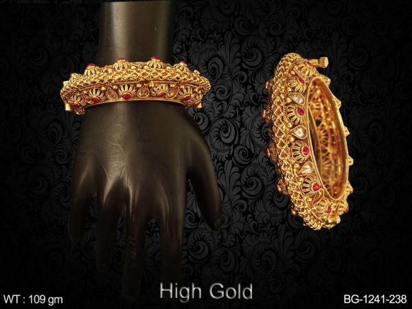 Paan Stone Mesh Style Antique Bangles