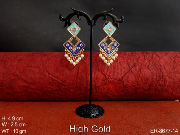 Antique Designer Beautiful High Gold Polish Clustered Pearl Fancy Party wear Earring