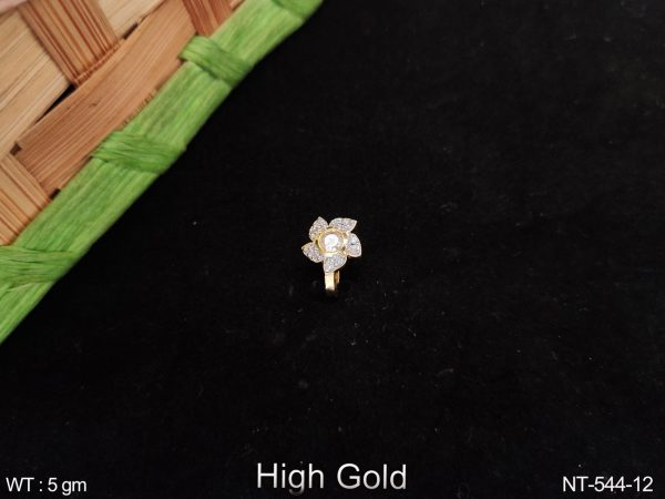 Beautiful Fancy Style Designer Full Cz / Ad Stoner Party wear Nath / Nose pin