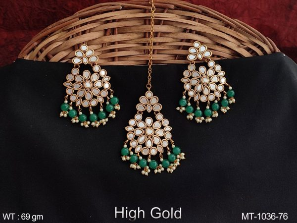 Beautiful Fancy Style Antique Maang Tikka with Earring